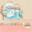 Hello Sun digital scrapbook page by scrappydonna featuring Hello Sun by Sahlin Studio