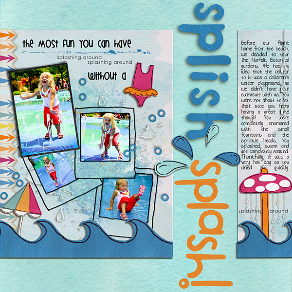 Pool Waterpark digital scrapbooking layout created by julia featuring waterpark by sahlin studio and jacque larsen