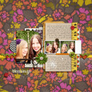 This Sweet Life digital scrapbooking layout created by liahra featuring Retro Mod by Sahlin Studio
