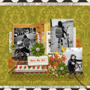 Kids digital scrapbooking layout created by misserin featuring Retro Mod by Sahlin Studio