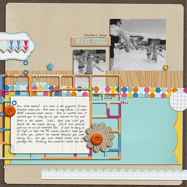 Pool Waterpark digital scrapbooking layout created by kristasahlin featuring waterpark by sahlin studio and jacque larsen