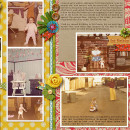 digital scrapbooking layout created by tiff featuring retro mod by sahlin studio