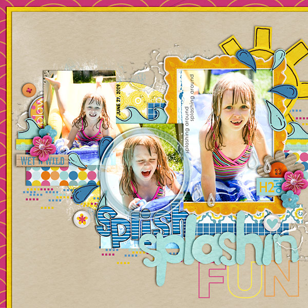 Pool Waterpark digital scrapbooking layout created by cindys0752004 featuring waterpark by sahlin studio and jacque larsen