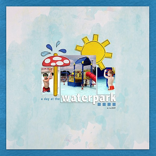 Pool Waterpark digital scrapbooking layout created by Keela featuring waterpark by sahlin studio and jacque larsen