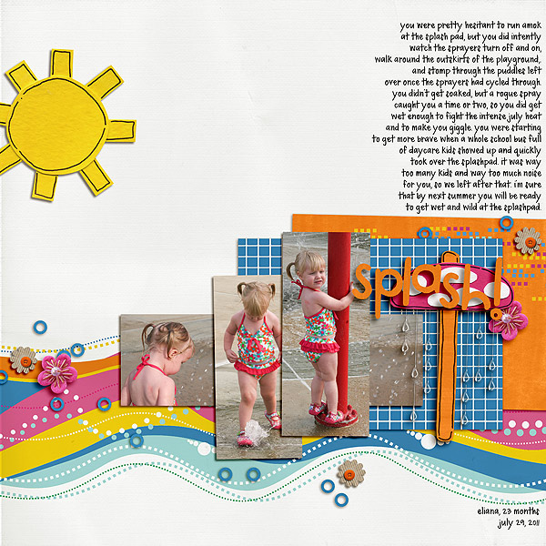 Pool Waterpark digital scrapbooking layout created by LeeAndra featuring waterpark by sahlin studio and jacque larsen