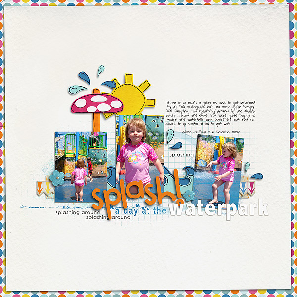 SPLASH Pool digital scrapbooking layout created by nockosh featuring waterpark by sahlin studio and jacque larsen