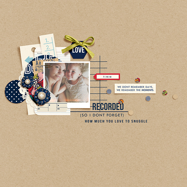 Love This digital scrapbook layout by 3littleks featuring Documentary by Sahlin Studio