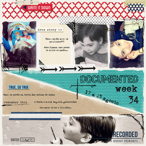 Documented digital scrapbook layout by AnaPaula featuring Documentary by Sahlin Studio