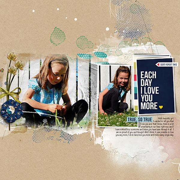 True, so True digital scrapbook layout by HeatherPrins featuring Documentary by Sahlin Studio