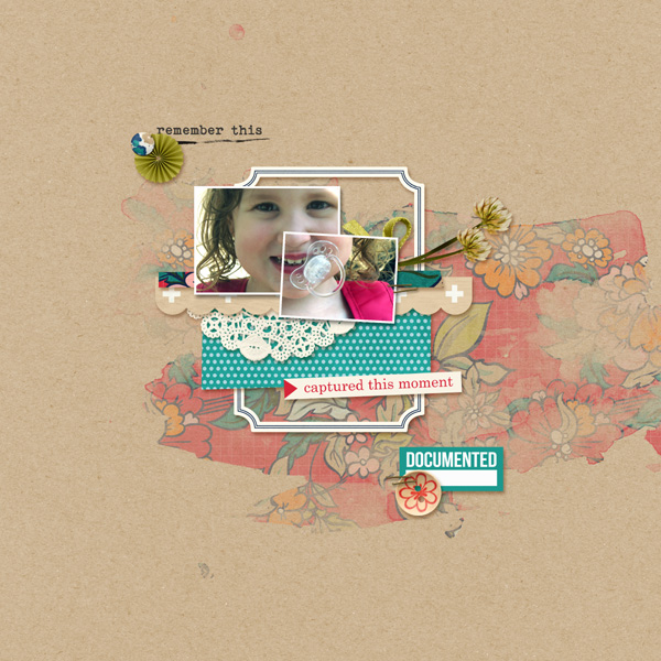 Captured Moment digital scrapbook layout by MlleTerraMoka featuring Documentary by Sahlin Studio