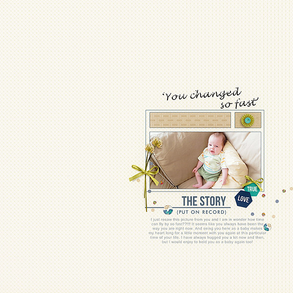 The Story digital scrapbook layout by PLM featuring Documentary by Sahlin Studio