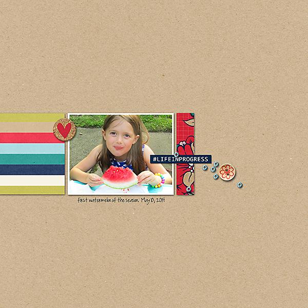 Life In Progress digital scrapbook layout by ashleywb featuring Documentary by Sahlin Studio