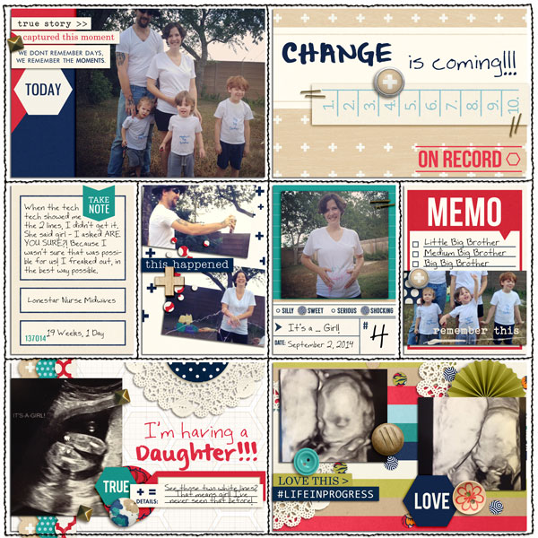 Digital Pocket Scrapbooking Layout by editorialdragon featuring Documentary by Sahlin Studio