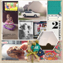 Captured digital scrapbook layout by gracielou featuring Documentary by Sahlin Studio
