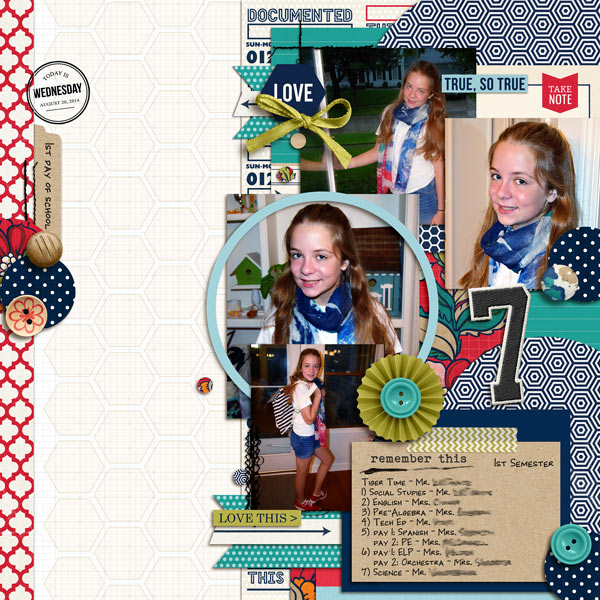 1st Semester Digital Scrapbook layout by norton94 featuring Documentary by Sahlin Studio