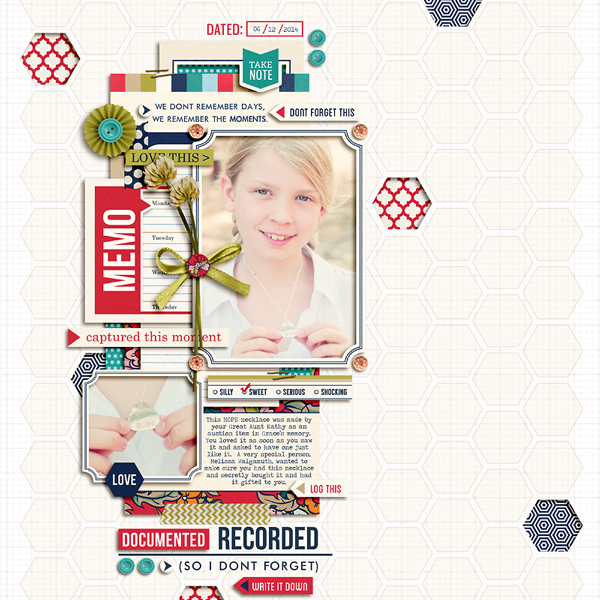 Recorded digital scrapbook layout by pne123 featuring Documentary by Sahlin Studio