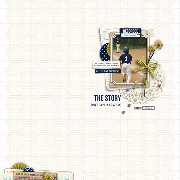 The Story digital scrapbook layout by sucali featuring Documentary by Sahlin Studio
