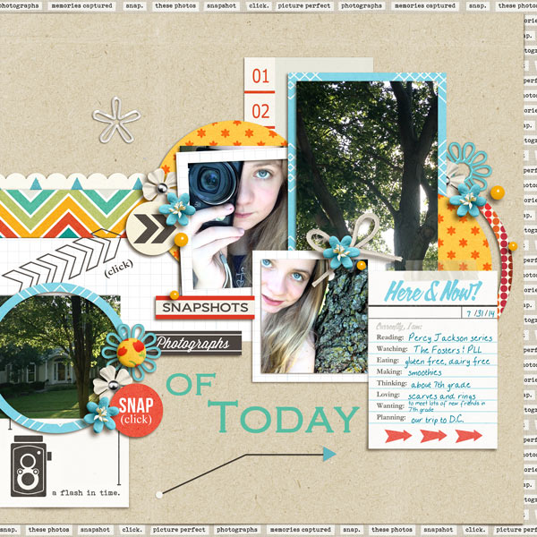 Here and Now digital scrapbook page by norton94 featuring Flashback by Sahlin Studio