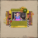 Gorgeous Kids digital scrapbooking layout created by girlygirl featuring Retro Mod by Sahlin Studio