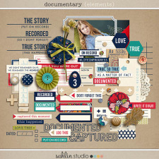 Documentary (Elements) - Back to School / Autumn / Fall Digital Scrapbooking by Sahlin Studio