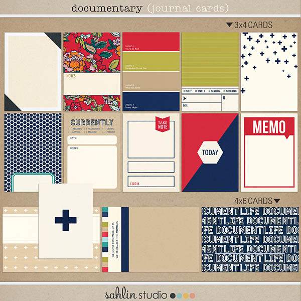 Documentary (Journal Cards) - Back to School / Autumn / Fall Digital Scrapbooking by Sahlin Studio Perfect for Project Life!