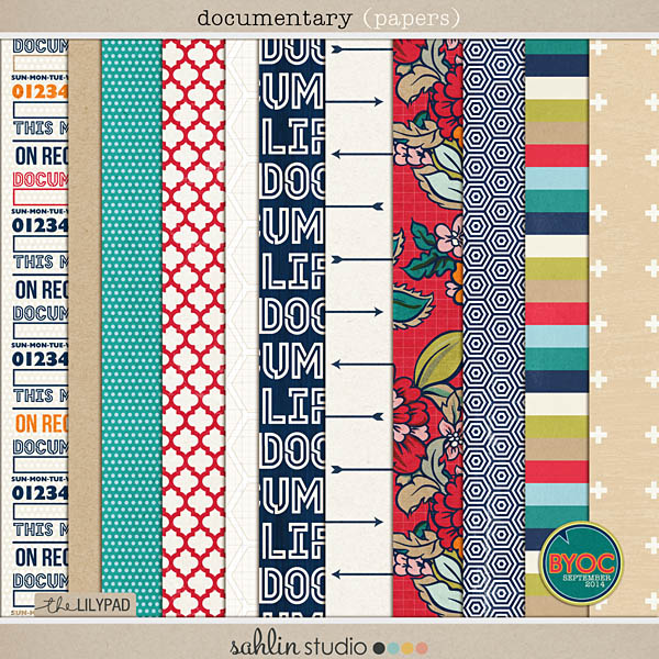 Documentary (Papers) - Back to School / Autumn / Fall Digital Scrapbooking by Sahlin Studio
