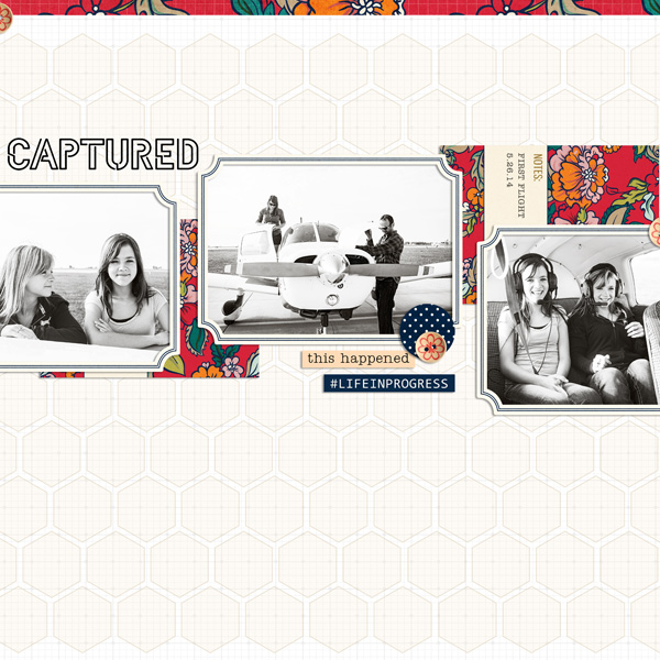 Captured digital scrapbook layout by EHStudios featuring Documentary by Sahlin Studio