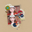 CUTE! Girl Fall digital scrapbook layout by JennBarrette featuring Documentary by Sahlin Studio
