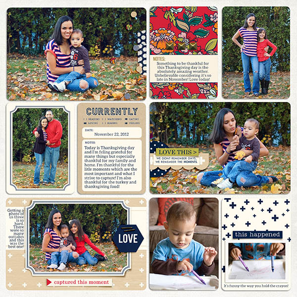 Digital Project Life Layout by maribel featuring Documentary by Sahlin Studio