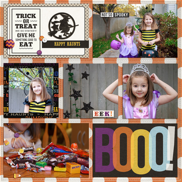 digital scrapbook layout created by aballen featuring Project Mouse (Halloween)