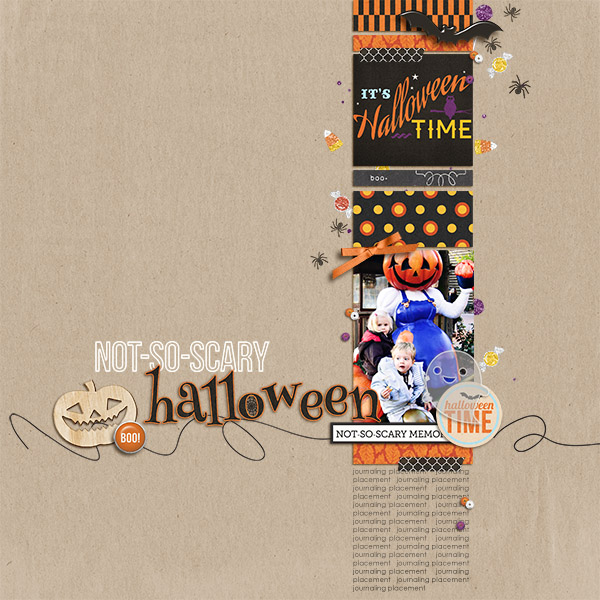 digital scrapbook layout created by arumrose featuring Project Mouse (Halloween)