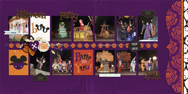 digital scrapbook layout created by gaylemaupin featuring Project Mouse (Halloween)