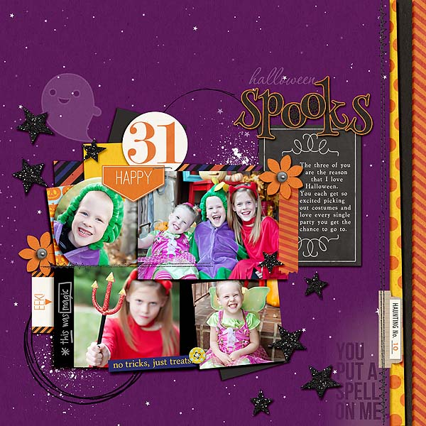digital scrapbook layout created by mamatothree featuring Project Mouse (Halloween)