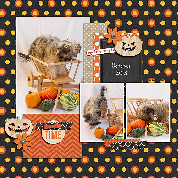 digital scrapbook layout created by meibritt featuring Project Mouse (Halloween)