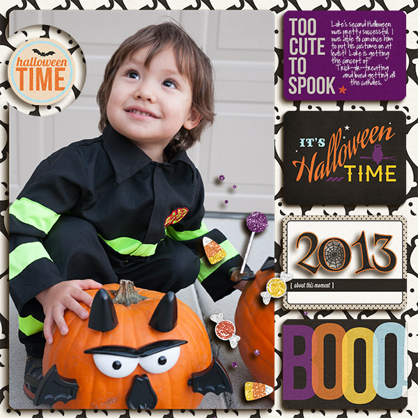 digital scrapbook layout created by mikinenn featuring Project Mouse (Halloween)