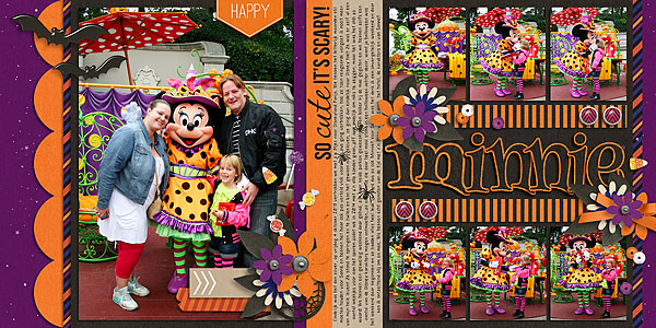 digital scrapbook layout created by natascha featuring Project Mouse (Halloween)