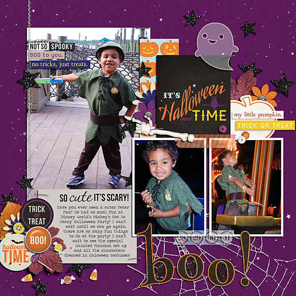 digital scrapbook layout created by PuSticks featuring Project Mouse (Halloween)