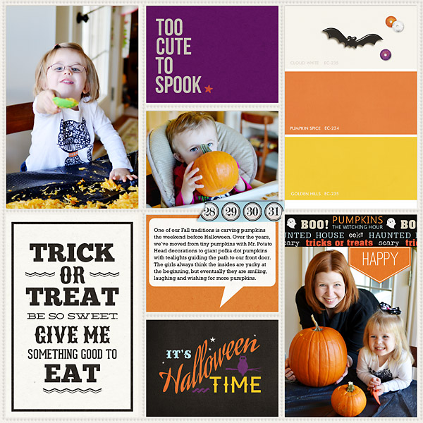 digital scrapbook layout created by Teresa featuring Project Mouse (Halloween)