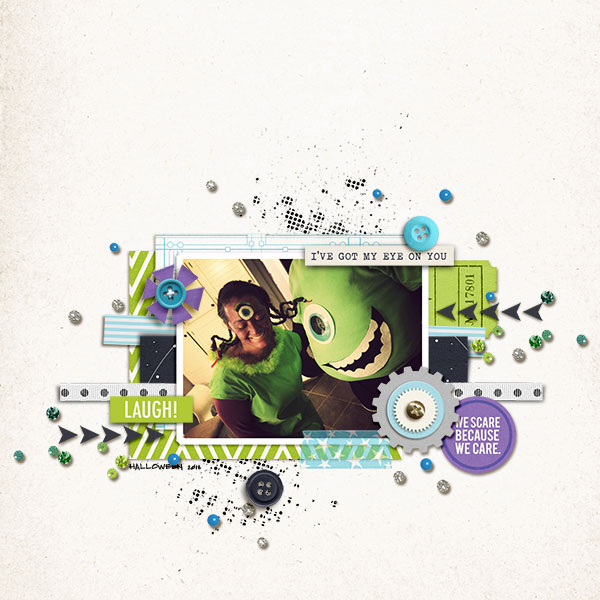 Disney Monster Inc Meet and Greet digital scrapbook page by Natasha featuring Project Mouse (Tomorrow) by Britt-ish Designs and Sahlin Studio
