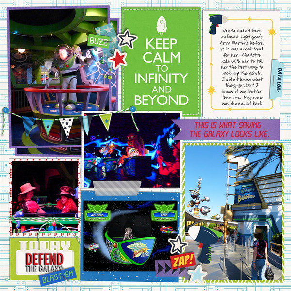 Disney Tomorrowland Astro Blasters digital scrapbook page by Quilty Mom featuring Project Mouse (Tomorrow) by Britt-ish Designs and Sahlin Studio