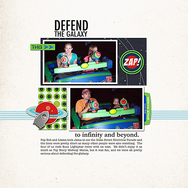 Defend the Galaxy - Astro Blsaters - Buzz LightYear digital scrapbook page by ashelywb featuring Project Mouse (Tomorrow) by Britt-ish Designs and Sahlin Studio