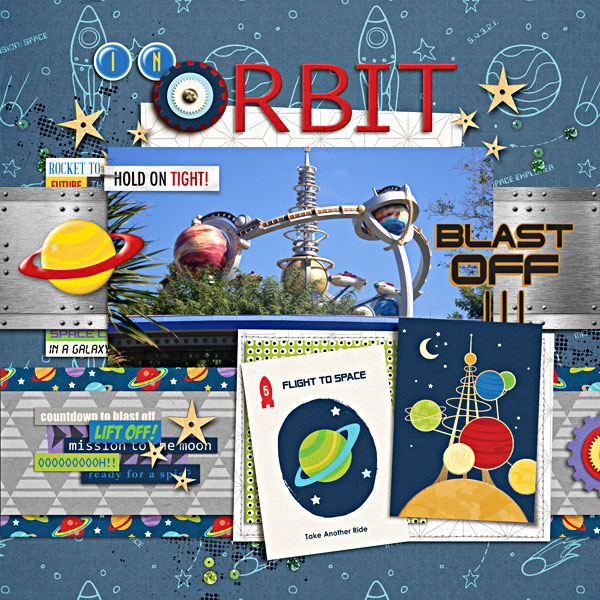 Tomorrowland Astro Orbitor digital scrapbook page by breeoxd featuring Project Mouse (Tomorrow) by Britt-ish Designs and Sahlin Studio
