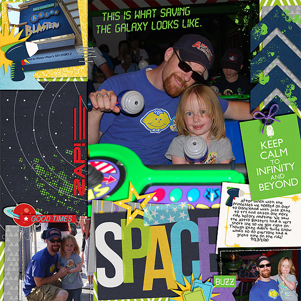 Disneyland TomorrowLand Astroblasters digital layout by clemmon03 featuring Project Mouse (Tomorrow) by Britt-ish Designs and Sahlin Studio