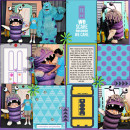 Disney Monsters Inc - Sully Boo digital Project Life by heather featuring Project Mouse (Tomorrow) by Britt-ish Designs and Sahlin Studio