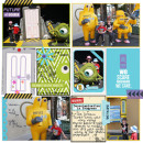 Disney Monsters Inc - Mike digital Project Life by justine featuring Project Mouse (Tomorrow) by Britt-ish Designs and Sahlin Studio