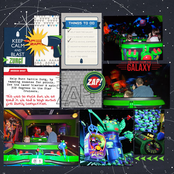 Saving the galaxy! Buzz Lightyear digital Project Life by justine2 featuring Project Mouse (Tomorrow) by Britt-ish Designs and Sahlin Studio