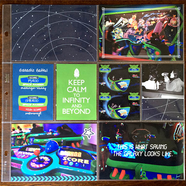 Disney Buzz LightYear - Astro Blasters - Tomorrowland Project Life by kristasahlin featuring Project Mouse (Tomorrow) by Britt-ish Designs and Sahlin Studio