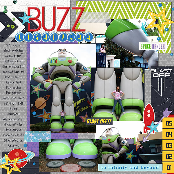 Disney Buzz LightYear digital scrapbook page by melinda featuring Project Mouse (Tomorrow) by Britt-ish Designs and Sahlin Studio