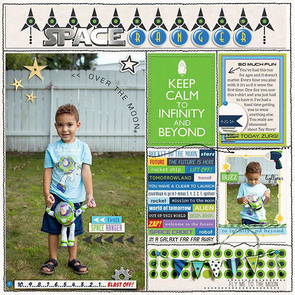 Disney Buzz Light Year toy digital scrapbook page by mrivas2181 featuring Project Mouse (Tomorrow) by Britt-ish Designs and Sahlin Studio