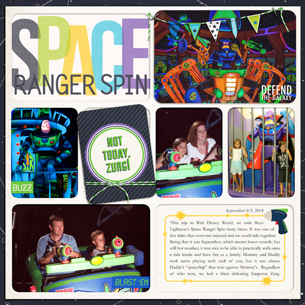 Disney Tomorrowland Space Ranger Spin digital project life by rlma featuring Project Mouse (Tomorrow) by Britt-ish Designs and Sahlin Studio